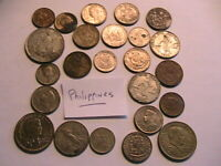 Philippines Mixed Lot of 24 Coins Post War Mixed Types Dates and Denominations