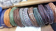 22-1/2 ft coil Western Electric CLOTH covered 20ga tinned cable PAIR