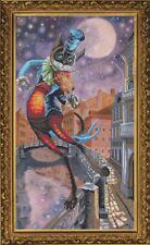 """Cross Stitch Kit NOVA SLOBODA CP 6122 - """"Moon on the Fiddlestick"""""""