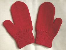 Hand Knit Red Mittens