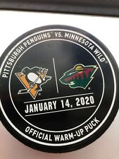 Minnesota Wild Vs. Pittsburgh Penguins 2020 Official Warm Up Puck