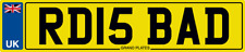 NUMBER PLATE RD INITIALS RD15 BAD REGISTRATION RD IS BAD RICK RYAN RAY ROB RJD
