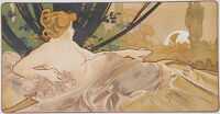 Alphonse Mucha Dawn Giclee Canvas Print Paintings Poster Reproduction Copy