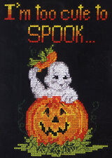 Counted Cross Stitch Kit ~ Candamar Halloween Too Cute To Spook #5218