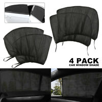 4Pcs Auto Sun Shade Front + Rear Window Screen Cover Sunshade Protector For Car