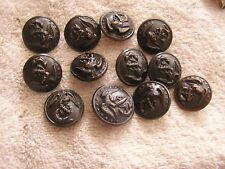 Lot 12 old Antique Vintage Military Buttons No. 176