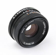 50MM 50/2 YASHICA DX IN CONTAX/YASHICA MOUNT (SOME DUST), STIFF FOCUS/208511