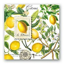 """""""Lemon Basil"""" 20 Luncheon Paper Napkins made in Germany by Michel Design Works"""
