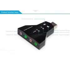 External 7.1 5.1Channel USB 3DSound Card Audio LaptopPC Computer Macbook Adapter