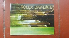 ROLEX GENUINE WATCH BOOKLET DAY-DATE French 1998 For 18238 18200 (18239 tridor)