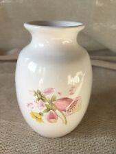 BRIXHAM POTTERY PRETTY HAND PAINTED SMALL FLORAL VASE