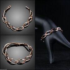 Modeschmuck-Armbänder im Ketten-Stil mit Cubic Zirkonia-Hauptstein für Damen