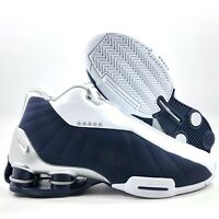 Nike Shox BB4 Vince Carter Olympics White Navy Blue Silver AT7843-100 Men's 7.5