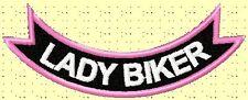 LADY BIKER mini-rocker .... BIKER PATCH