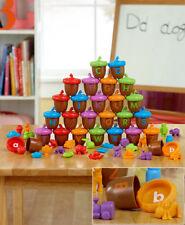 78 Pc. Alphabet Acorns Activity Set Educational Learning Letters Autumn Kid Toy