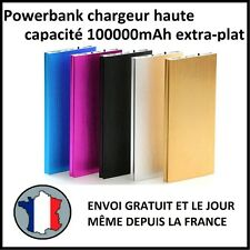 CHARGEUR EXTERNE BATTERIE 100000MAH EXTRA PLAT USB TABLETTE USB 1A 2A POWERBANK