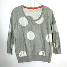 Anthropologie Dot Drift Pullover HWR Monogram L Polka Dot Cotton Sweater