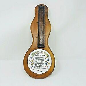 Vintage Retro Kitchen Prayer Key Holder Hanger Solid Wood Unique Rare Christian