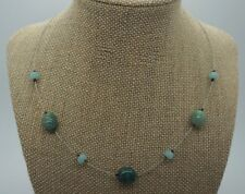 SILPADA Green Blue Teal Floating Bead Necklace Signed