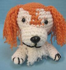 Amigurumi Red Mixed Breed Puppy Dog Crochet Handmade Figurines Gifts by Bren