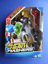 Figurine MARVEL - SUPER HEROS MASHERS - Iron man (armure noire) - Environ 16 cm