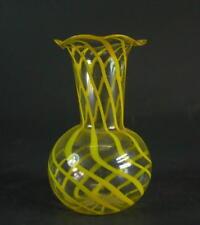 Lauscha  - gelbe Spiralglasvase