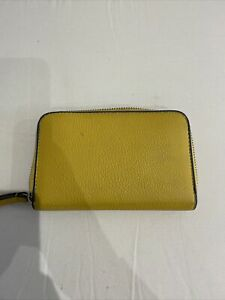MARKS & SPENCER Yellow Faux Leather Zip Around Purse