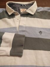New listing BROOKS BROTHERS Men's Rugby Style 100% Cotton XL BLUE GREEN & WHITE LS Shirt
