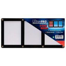 ULTRA PRO BLACK FRAME 3 CARD SCREWDOWN HOLDER 4 Screw Clear Triple Display New