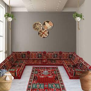 Sectional Sofa U Shaped Arabic Style Majlis Floor Seating Modular furniture