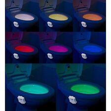 LED-Toilettenlicht Dämmerungs- & Bewegungs-Sensor 2 Modi 8 Farben WC-Nachtlicht