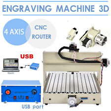 Pro 4AXIS 3040 CNC Router Engraver Engraving Drilling Milling Machine  USB Port