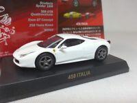 1:64 Kyosho Ferrari 458 Italia 2009-2015 White+Option Classic 5Spoke Rims Wheels