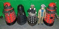 Doctor Who Villain DAVROS + ROBOMAN + DALEK Action Figure Lot - Used