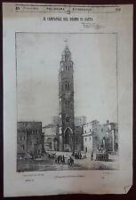 Gaeta  - Lazio - Xilografie - Poliorama 1843  - 4 incisioni