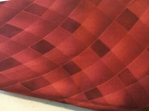 Quilting Fabric, 1 Yard, Red Abstract Pattern, Cotton