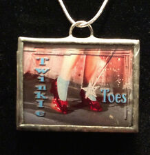 """NEW Dorothy's Ruby Slipper Pendant on 18"""" Silver Plate Chain"""