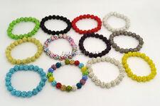 wholesale lots Job 50pcs CZ Rhinestone crystal disco ball beads bracelets FREE