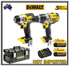 DeWalt 18V XR 4.0Ah Li-Ion Cordless Combo Kit Tough Case DCD985 Brushless DCF895