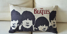 "The Beatles Band Linen Throw Pillow Case Decorative Cushion Cover Sham 20""x 12"""