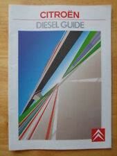 CITROEN gamme des voitures diesel & Vans 1988 1989 brochure de marché britannique-BX Cx C15 C25