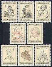 Austria 1969 Art/Paintings/Rembrandt/Breugel/Horse/Hare/Madonna 8v set (n33443)