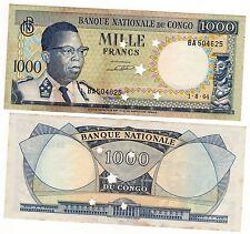CONGO Billet 1000 FRANCS 1.8. 1964 ANNULE P8 QUASI NEUF // AU