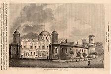 MOSCOU MOSKVA CHATEAU DE PETROVSKOI PRESS ARTICLE CASTLE MOSCOW 1841 PRINT