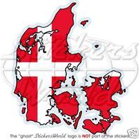 DENMARK Danish Map-Flag DANE EU - Vinyl Bumper Sticker Decal