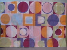 Springs Dots Circles Squares Pillow Sham Standard Full Orange Purple Pink NEW