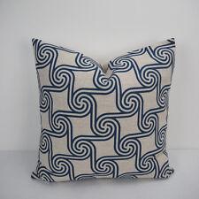 """18""""x45cm Navy Printed 005 Cotton Linen Decor Cushion cover Pillowcase"""