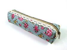 Retro Vintage Flower Lace Floral Pencil Case Pen Bag Purse Cosmetic Makeup Pouch