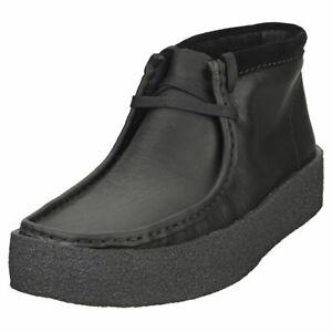 Clarks Originals Wallabeecup Bt Mens Black Wallabee Boots - 11 US