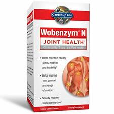 Garden of Life Joint Support Supplement - Wobenzym N Systemic Enzymes, 100 Table